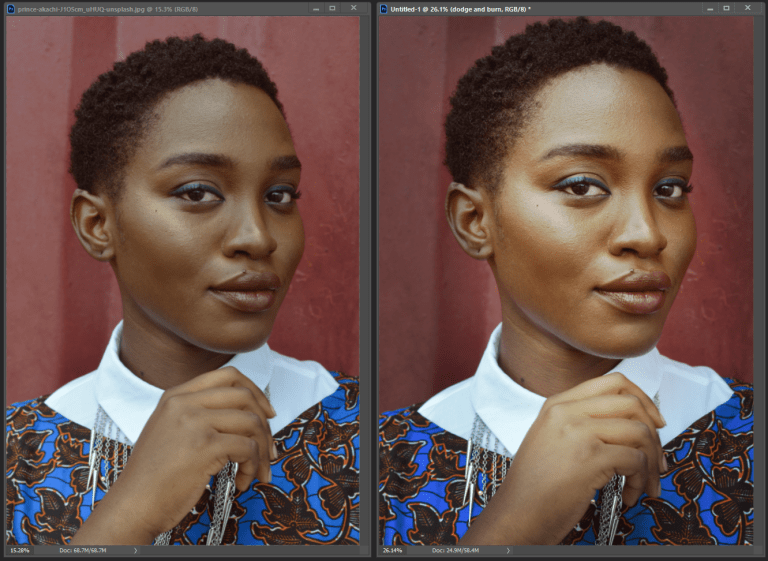 before and after with the overlay method