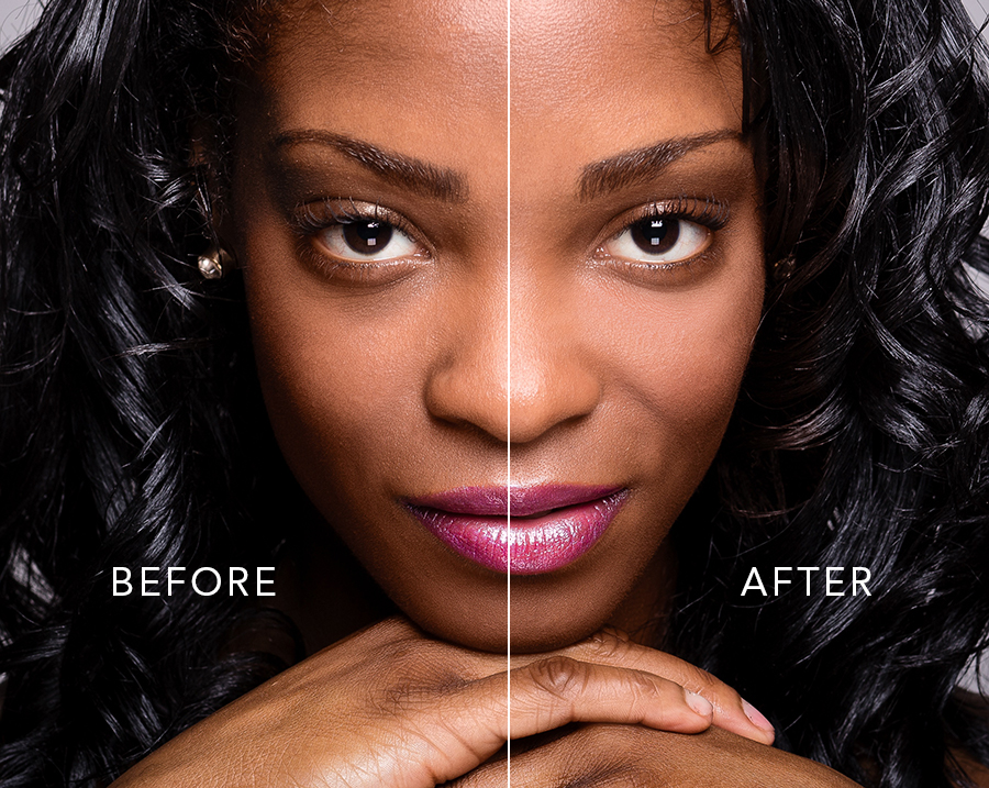 How to brighten under eyes and remove dark circles in photoshop