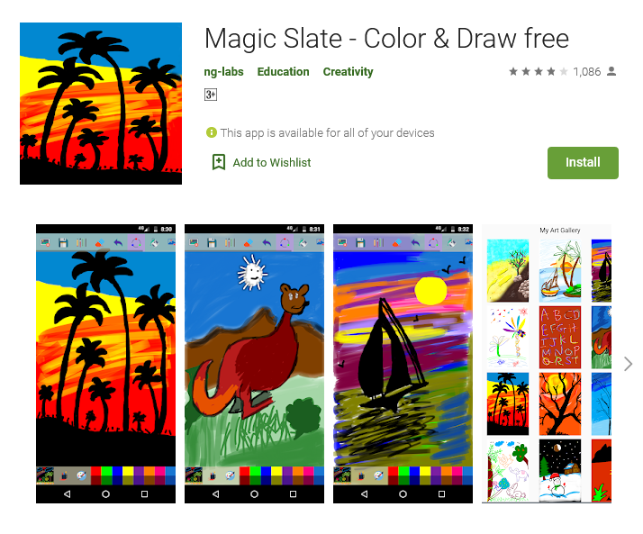 Magic Slate - Color & Draw (Free: Android)