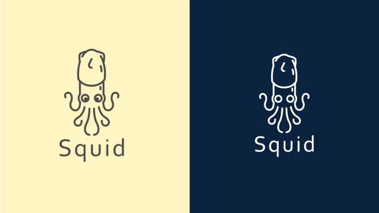 FREE DOWNLOAD Minimal Squid Logo Icon Vector