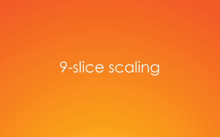 What is 9-slice scaling in Adobe Illustrator?