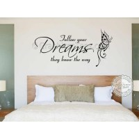 Follow Your Dreams Inspirational Quote, Family Wall ...