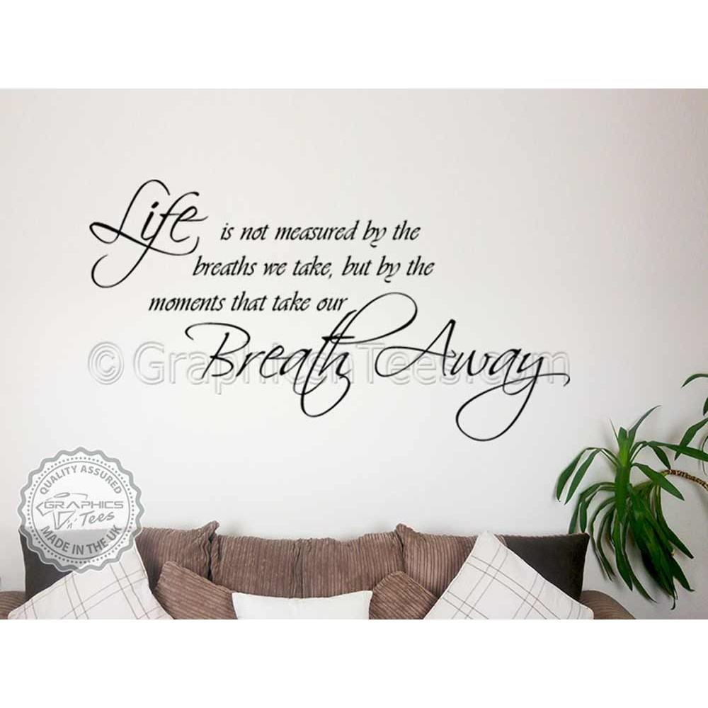 Image of: God Moments Take Your Breath Away Inspirational Family Wall Sticker Quote Motivational Decor Decal Graphics n Tees Moments Take Your Breath Away Inspirational Family Wall Sticker