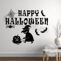Happy Halloween Wall Stickers Party Decorations with Witch ...