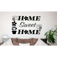 Home Sweet Home Wall Art Sticker Quote Vinyl Decor Decal ...