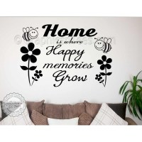 Happy Memories inspirational Family Wall Art Sticker Quote ...