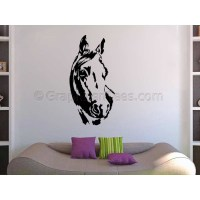 Horse Wall Stickers Boy Girls Bedroom Playroom Lounge Home ...