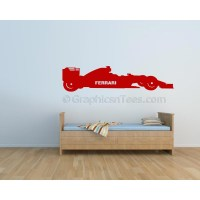 Formula 1 F1 Ferrari Racing Car Wall Art Graphic Decal