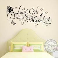 Little Girls Dreams Magical Things Bedroom Nursery Wall ...