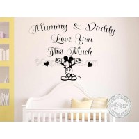 Mickey Mouse Nursery Wall Sticker Bedroom Decor Decal
