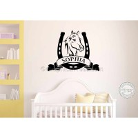 Personalised Horse Wall Stickers, Boy Girls Bedroom