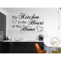 Kitchen Is The Heart Of The Home, Family Wall Sticker ...