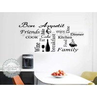 Kitchen Wall Sticker Montage Word Collage Kitchen Quotes ...