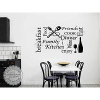 Kitchen Wall Sticker Quote Wall Art Collage, Kitchen Word
