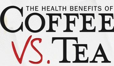 The Health Benefits of Coffee vs Tea - Infographics
