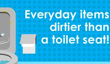 Everyday Items Dirtier Than Toilet Seat - Infographic