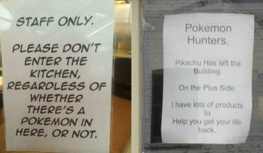 Pokémon Go Signs That Say Pokémon NO!