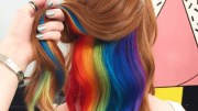 hidden rainbow hair streaks