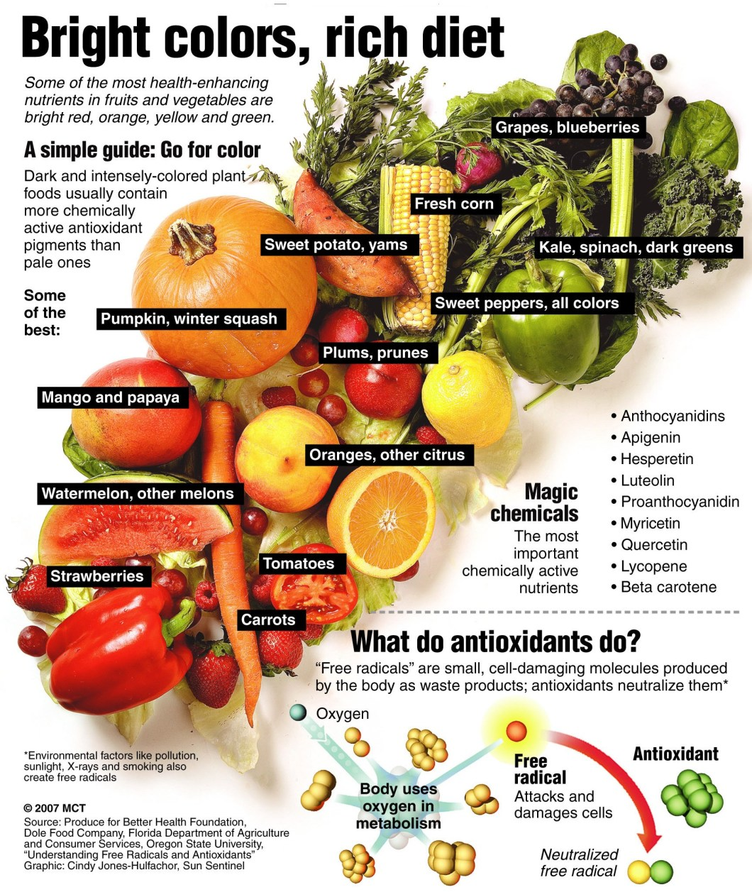 Brighter The Color, Richer The Diet - Infographic