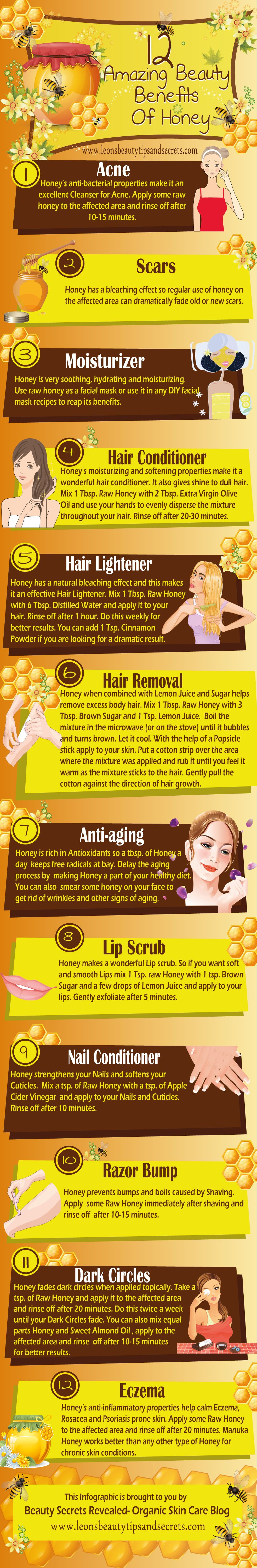 Here's How Honey Enhances Your Beauty - Infographic