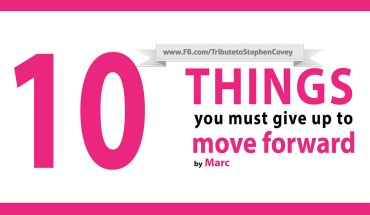 Here's What You Need To Give Up In Order To Move On - Infographic