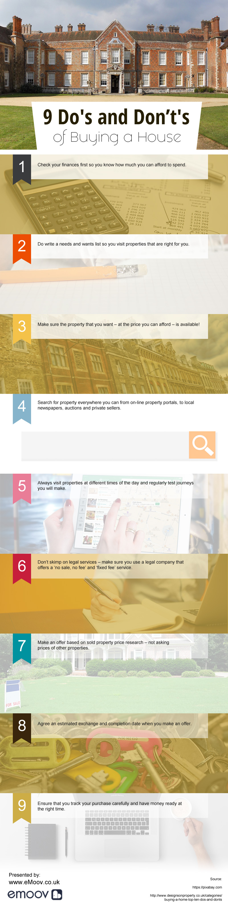 What You Should/Shouldn't Do While Buying A House - Infographic