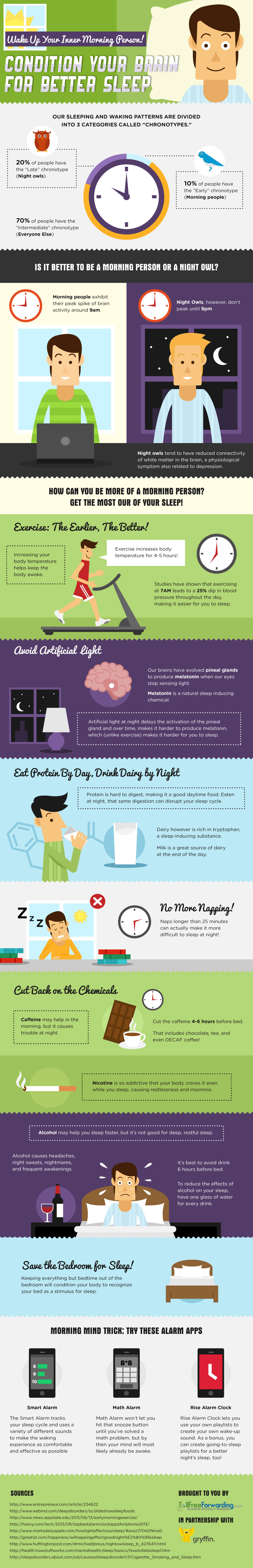 A Guide To Becoming A Morning Person - Infographic