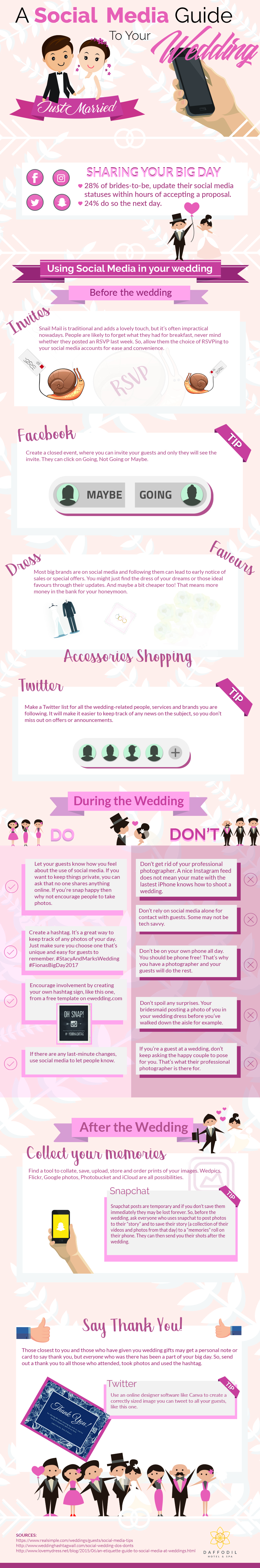 A Social Media Guide For Your Big Day - Infographic