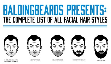 The Ultimate Chart Of All Facial Hair Styles - Infographic