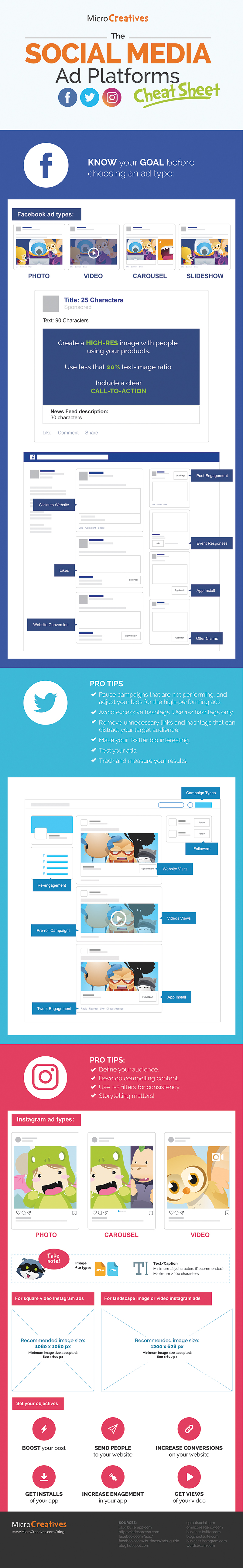 Pro Tips For Your Advertisements On Social Media - Infographic