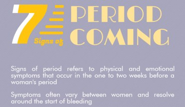 13 Signs That Your Period Is On Its Way! – Infographic
