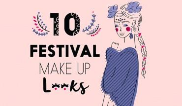 Fabulous Make-Up Looks For Festivals - Infographic