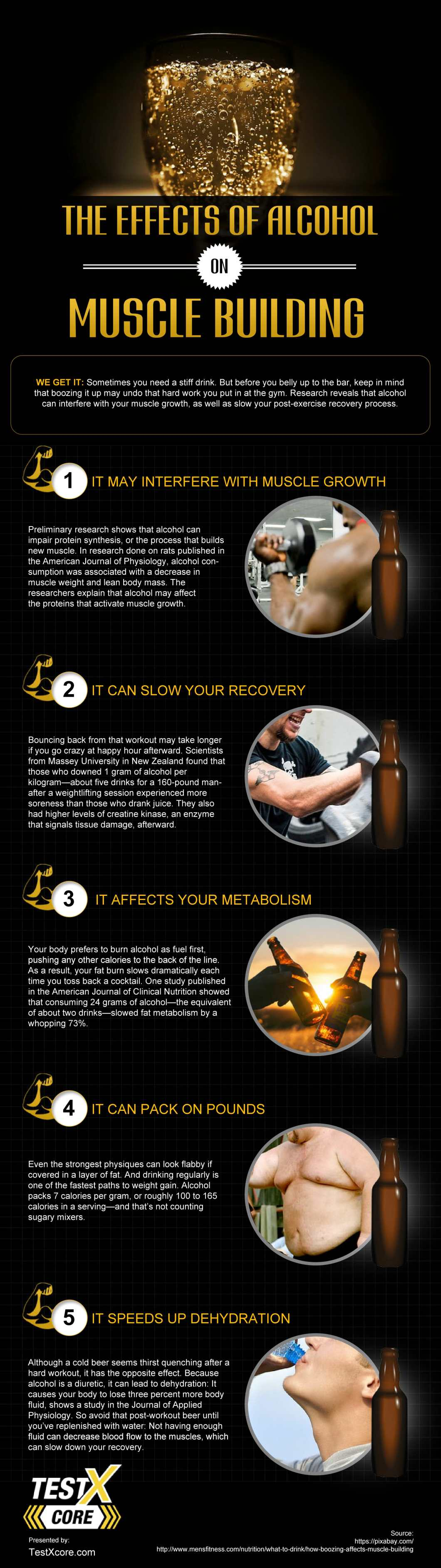 Building Muscle? Cut Out The Alcohol Completely! - Infographic