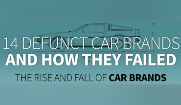 14 Extinct Car Brands And Why They Failed - Infographic