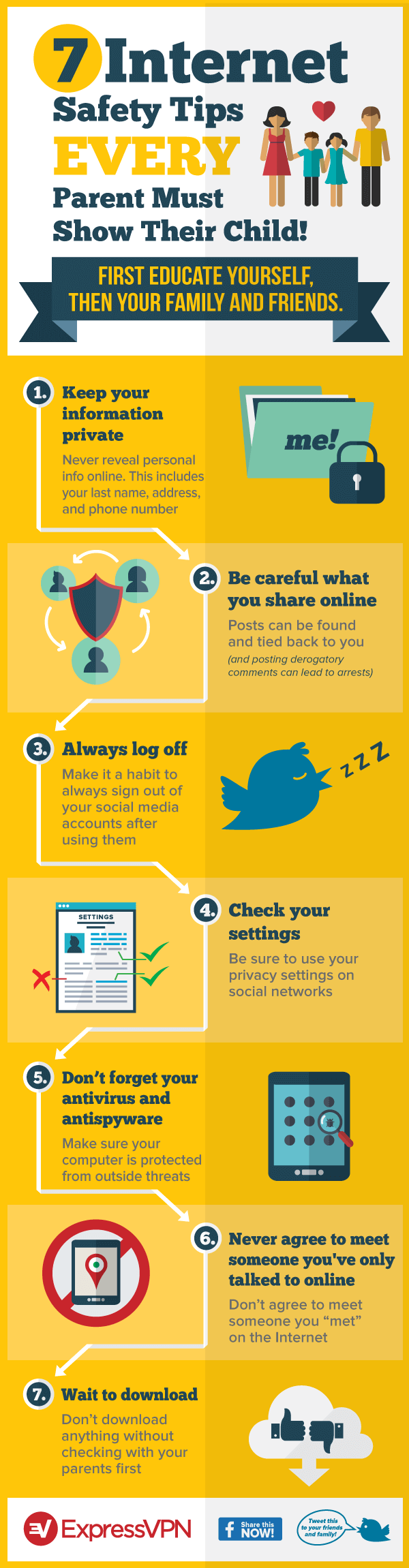 How to Keep Your Kids Safe Online - Infographic