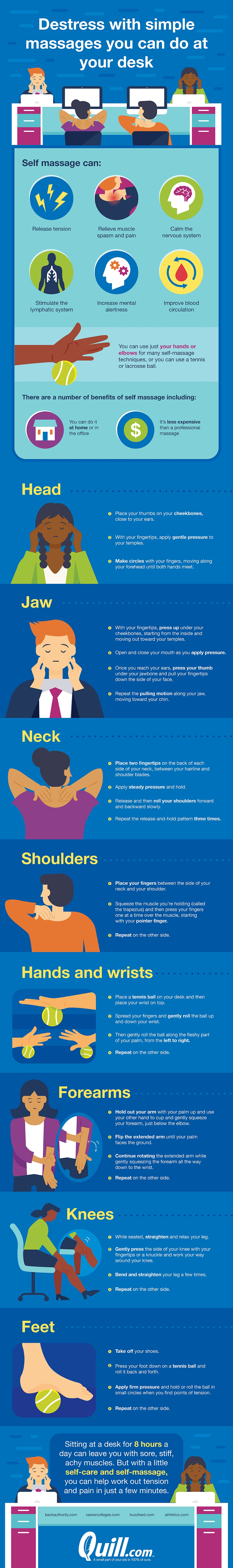 Easy Self-Massage Routines that Can Be Done at Your Desk - Infographic