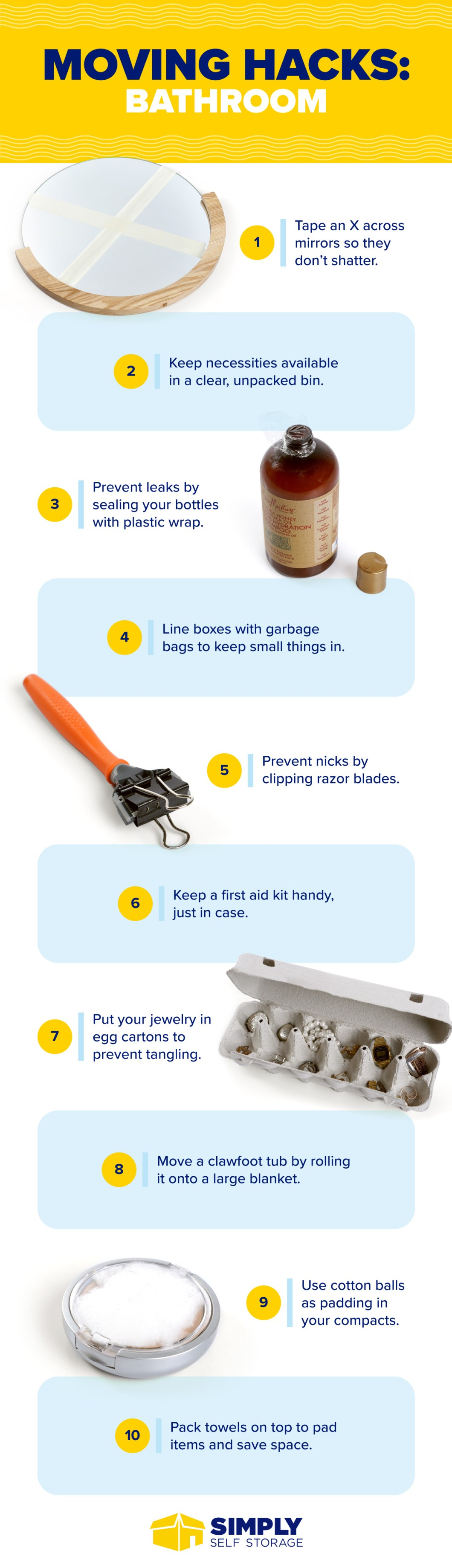 No More Moving-House Blues: 50 Essential Moving Hacks - Infographic