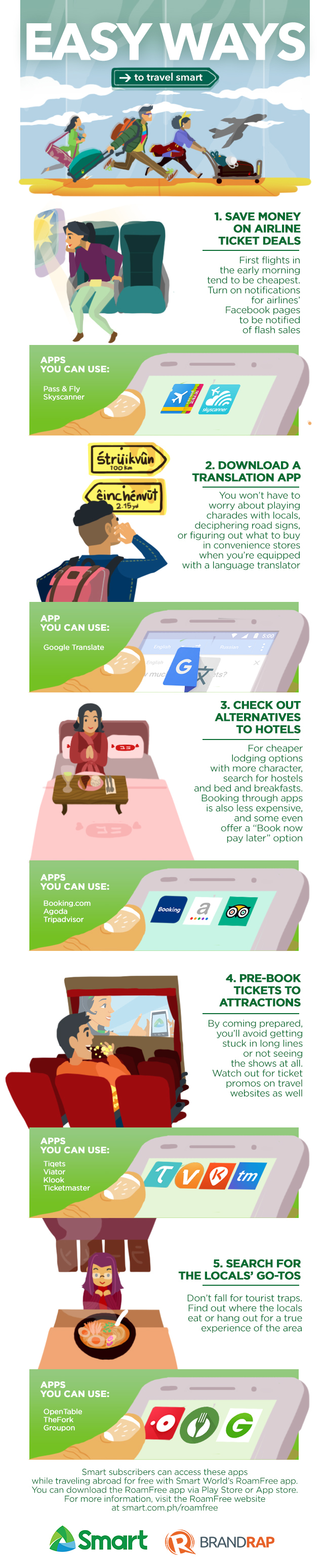 Apps for Traveling Smart and Great Holidaying - Infographic