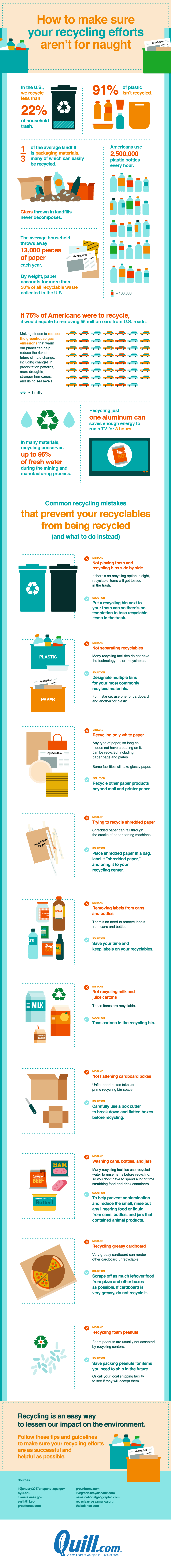 How to Make Sure Your Recycling Efforts Don't Go to Waste! - Infographic