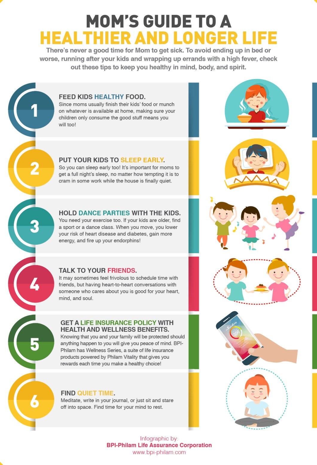 Mom's Guide to a Healthier Mind, Body and Spirit - Infographic