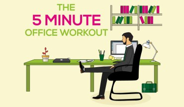 The Smart Way to Fitness: 5-Minute Office Workout - Infographic