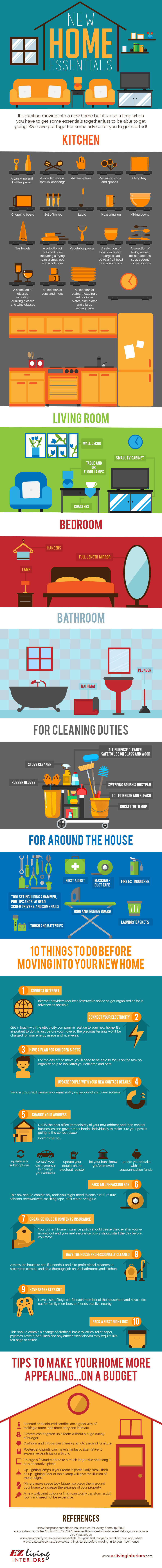 New Home Essentials: The Must-Have List - Infographic