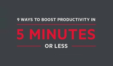 Boost Your Productivity in 5 Minutes or Less - Infographic