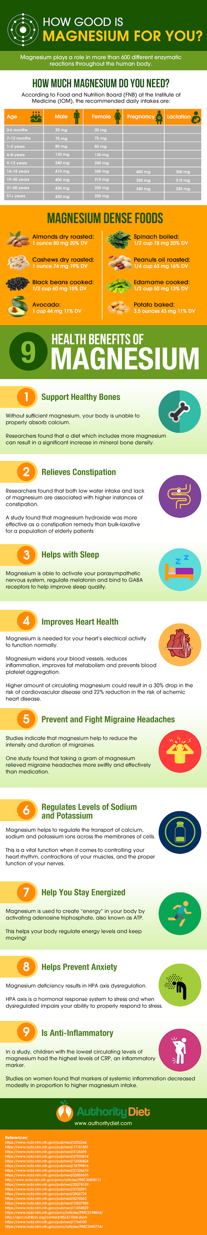 Why Magnesium is a Vital Nutrient: 9 Key Health Benefits - Infographic