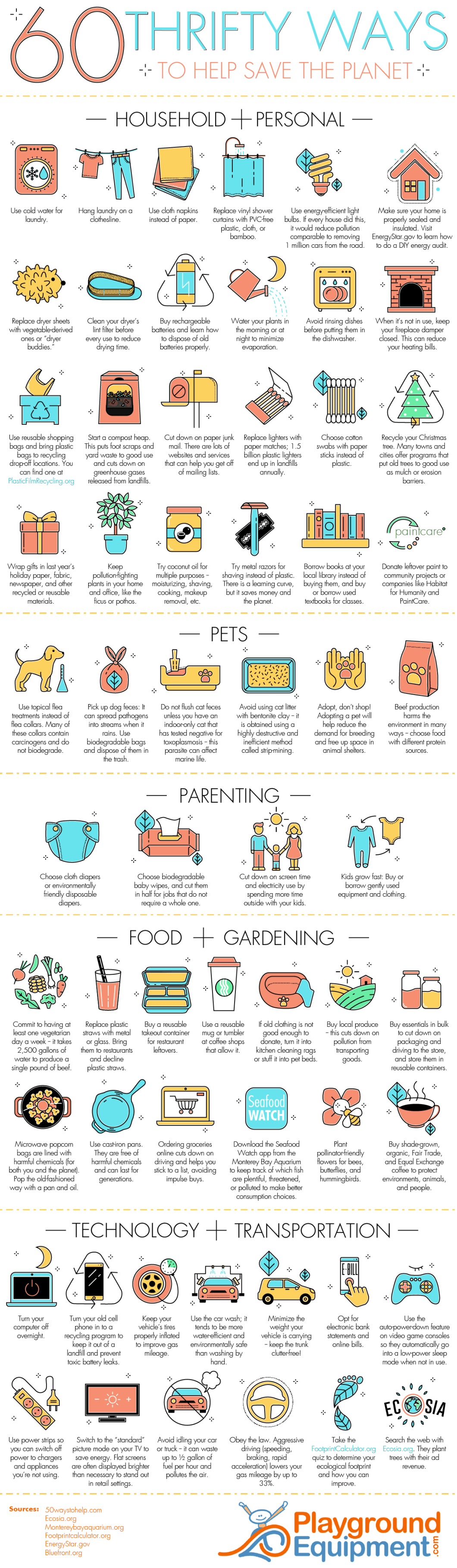Help Save the Environment? 60 Simple Ways to Do It! - Infographic