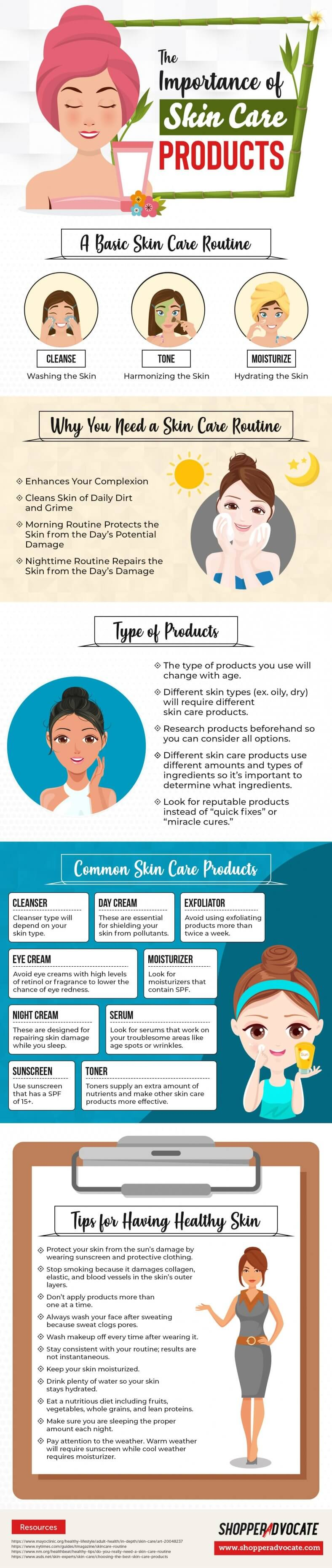 Choosing the Right Skin Care Products and Routine - Infographic
