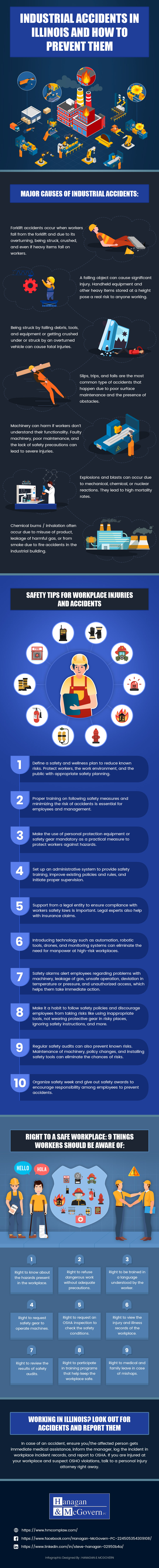 Illinois State's Record of Industrial Accidents and Strategies for Prevention - Infographic