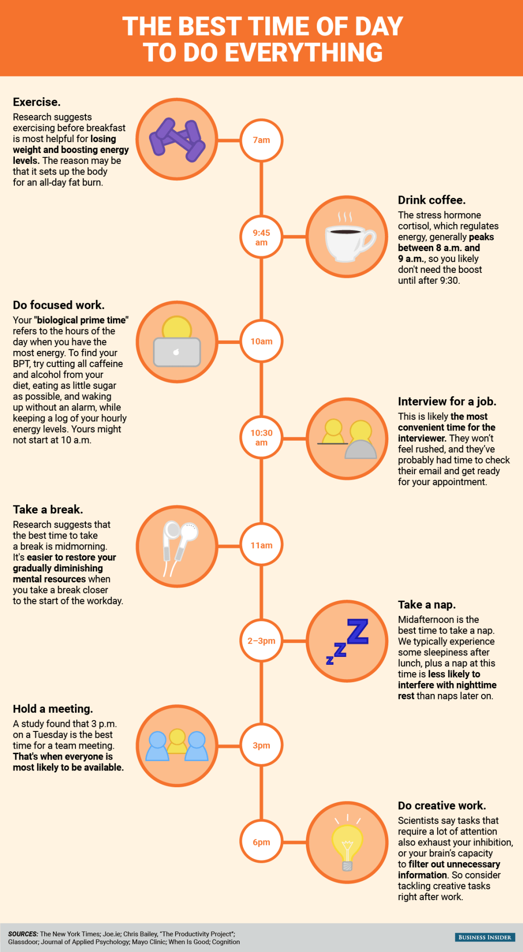 How to Maximize Productivity: Follow Your Body's Biological Rhythm - Infographic