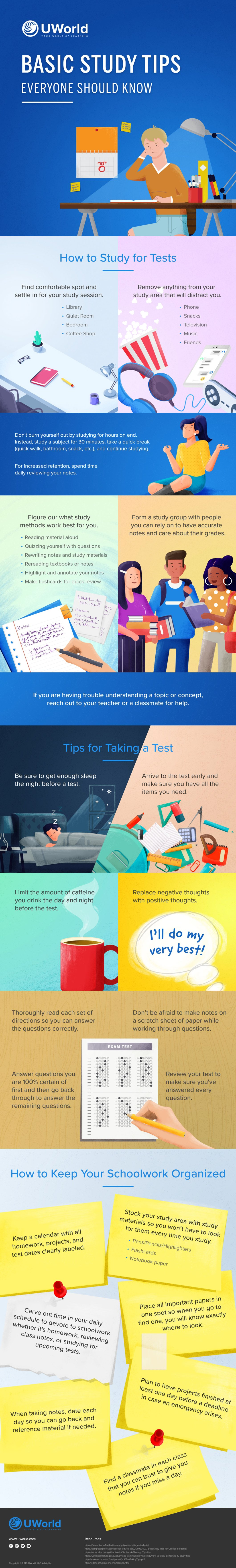 A Guide To Studying Efficiently - Infographic