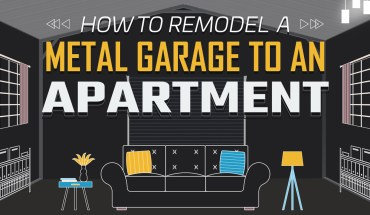 How to Remodel a Metal Garage to an Apartment - Infographic